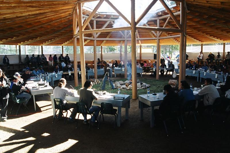 A photo from the Dehcho Assembly where all decisions about the Dehcho Process are made.  Photo credit NWT Protected Areas Strategy.